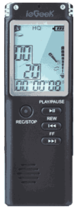 ieGeek Portable Digital Voice Recorder